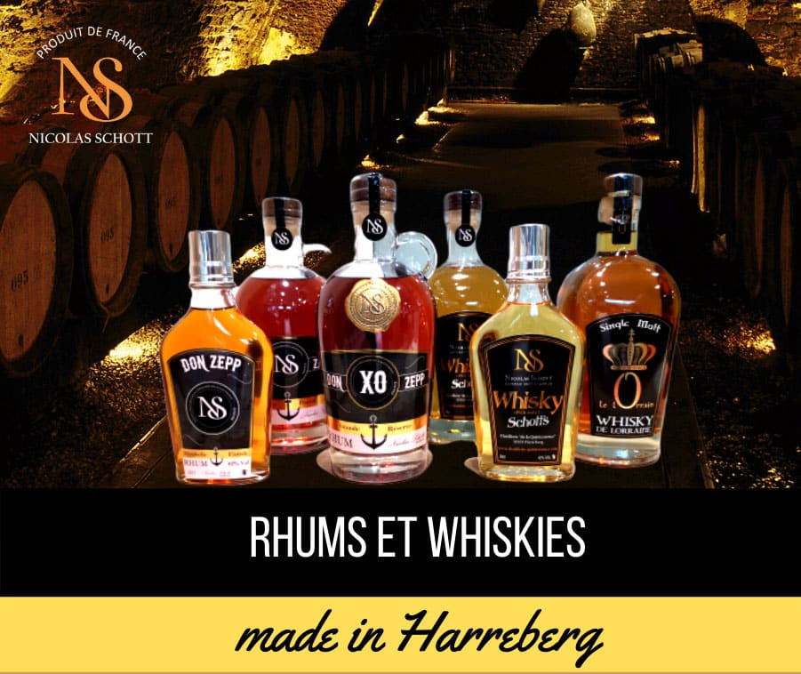 Rhums et Whiskies made in Lorraine